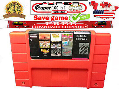 Super 100 in 1 Multi Cartridge Games For SNES USA NTSC US Mario Metroid Tested