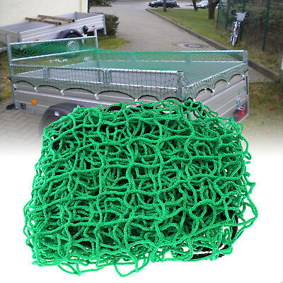 Strong Cargo Net Heavy Duty Garden Scramble Netting Car Trailer Skip Truck Green