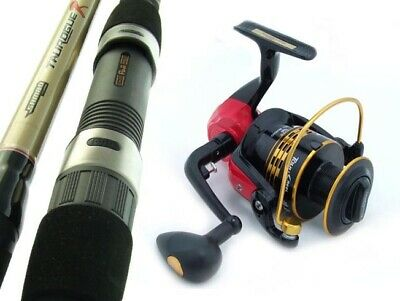 SAMBO Carbon 14' 20kg Big Surf Beach Spinning Fishing Rod and Reel Combo