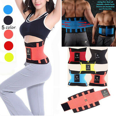 Men Women NEOPRENE Waist Trainer Belt Hot Sweat Body Shaper Weight Loss Slimming