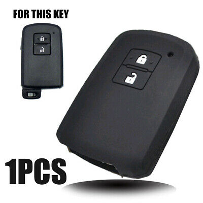 Silicone Key Case Cover For Toyota Camry Auris RAV4 Yaris Remote Fob 2 Button
