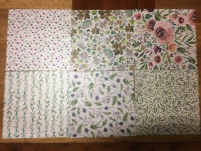 "Stampin' Up! Frosted Floral Specialty Designer Series Paper - 6 Sheets 6"" x 6"""
