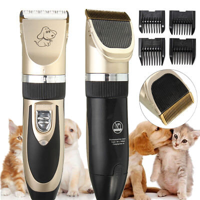 Electric Low-noise Trimmer Clipper Shaver Grooming Comb Kit for Pet Cat Dog Hair