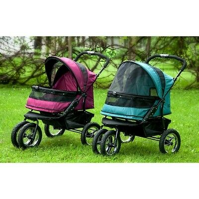 "Pet Gear No-Zip Double Pet Stroller-""2"" Colors - *free Shipping In The U.s.*"