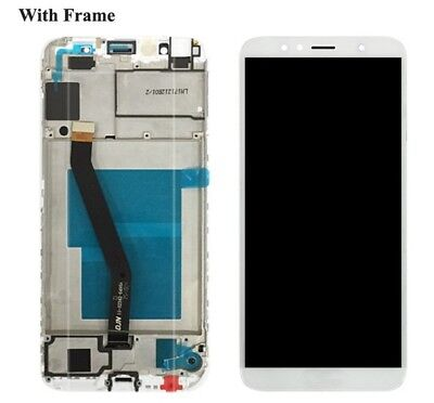 P1 Display Lcd+Touch Screen +Frame Huawei Honor 7A Aum-L29 Aum-L41 Bianco Vetro