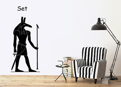 Large Vinyl Decal Ancient Egyptian God Set Wall Sticker (n707)