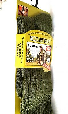 2 Pairs Army Military Socks Heat Max Thermal Winter Socks Olive Green