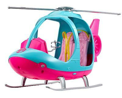 Barbie Travel Helicopter Doll Toy Seats 2 Dolls (Ages 3+) *BRAND NEW*