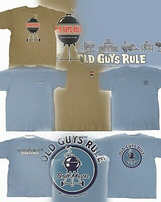 16fdb8b8 3 Old Guys Rule Bbq Themed T-Shirts Size M You Get All Three!