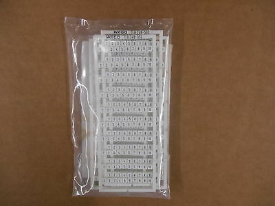 Wago 248-502 Terminal Block Marker, 1-10, LOT of 5