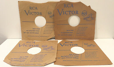 """RCA Victor 10"""" 78 Record Company Sleeve Only Lot His Master's Voice Light Blue"""