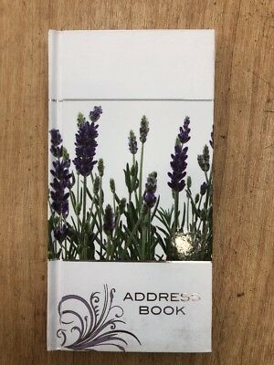 Lavender Purse Size Address Book 85mm x 165mm Ozcorp