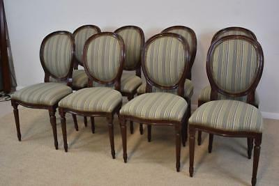 Eight Balloon Back Victorian Style Dining Chairs By Council Furniture Company