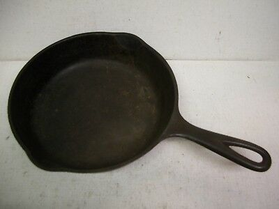 Vintage Wagner Ware Sidney -0- Cast Iron Skillet Pan No. 1055 E Double Spout