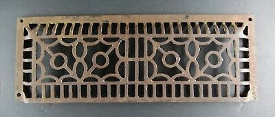 Antique Cast Iron Rectangular Ornate Wall Floor Grate Vent Cover