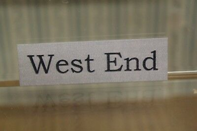 Dolls House Miniature = House Sign = West End