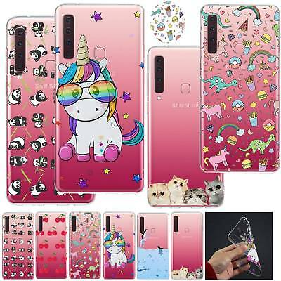 UK Clear Thin Silicone Soft Case Cover For Samsung Galaxy J4 j6 Plus A7 A9 2018