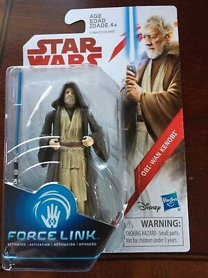 "Star Wars The Last Jedi: OBI-WAN KENOBI Hasbro 3.75"" Force Link Action Figure"