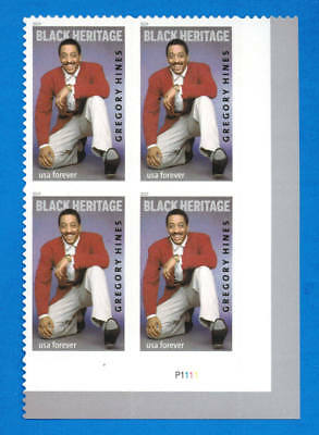 US Gregory Hines Stamp, a Plate Block (4 Forever Stamps), MNH 2019