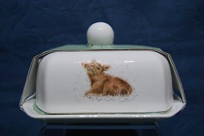 Royal Worcester Wrendale by Hannah Dale - Covered Butter Dish - Calf