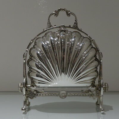 19th Century Antique Victorian Silver-Plated Folding Biscuit Box Circa 1870