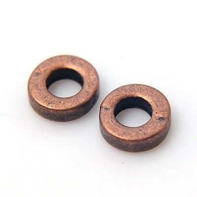 20 Tibetan Silver Style 6mm Donut Spacer Beads, 4 Colours Available. (CHARM1F)