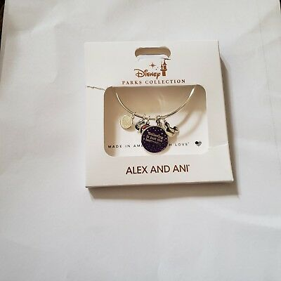 New Disney Silver Alex and Ani  - Believing is Just the Beginning Bangle Bracele