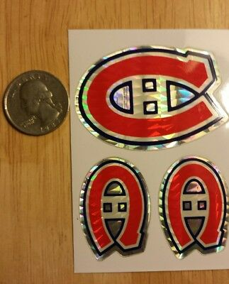NHL Montreal Canadiens Prismatic Hockey sticker early 1990's Vintage