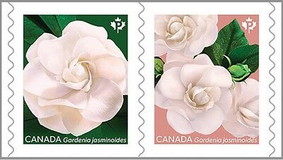 GARDENIA flower = One Pair of COIL stamps = MNH-VF Canada 2019
