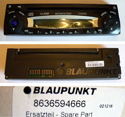 BLAUPUNKT Car Radio ALICANTE CD31 Bedienteil 8636594666 - NEU