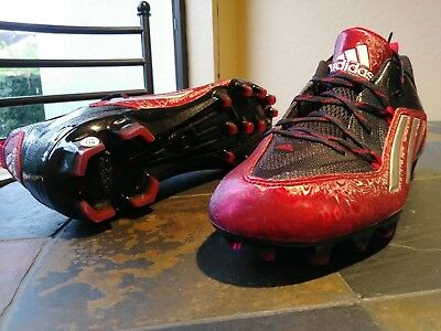 new concept b402a 8bae1 NEW ADIDAS CRAZYQUICK 2.0 MOLDED FOOTBALL CLEATS SHOES S83663 Black Red Size  10