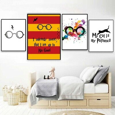 Classic Movies Harry Potter Glasses Poster Print Modern Art Canvas Painting Deco