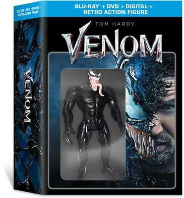 Venom Blu-ray/DVD Combo with Retro Action Figure Walmart Exclusive NEW