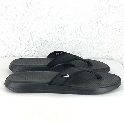 a70d13423d850d A1 Nike Men s 882691-002 Ultra Celso Thong Flip Flop Sandal Black White  Size 9
