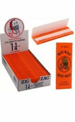 Zig Zag Orange Cigarette Rolling Papers 24 Packs (1 BOX ) 32 Papers Pack 1 1/4
