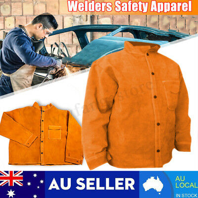 4 Sizes Welders Welding Jacket Protective Clothing Apparel Suit Safety Welder AU