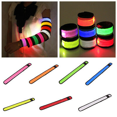 1x LED Flashing Light Up Glowing Bracelet Wristband Vocal Concert Party Gift