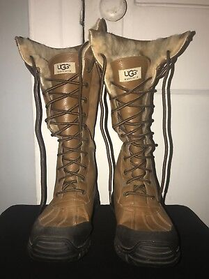 a06f5bfbd08 UGG ADIRONDACK TALL Otter Brown Winter Snow Boots Womens Size 8