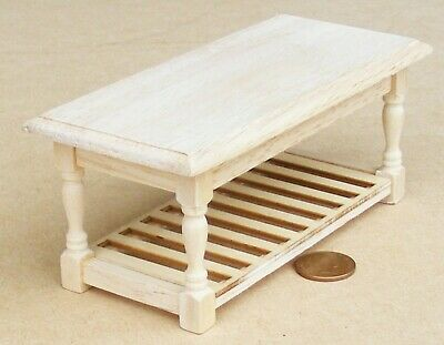 1:12 Scale Natural Finish Wood Kitchen Table Tumdee Dolls House Furniture 071