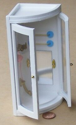 1:12 Scale Wooden Corner White Shower Unit Tumdee Dolls House Miniature 117
