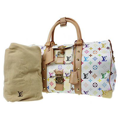 6d6a6b1620b Louis Vuitton Fourre-Tout 45 Voyage Boston Sac à Main Multicolore M92641  Auth