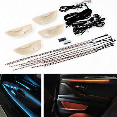 1Set 2 Colors Car LED Ambient Door Light Strip Atmosphere Lamp For BMW F10/ F11
