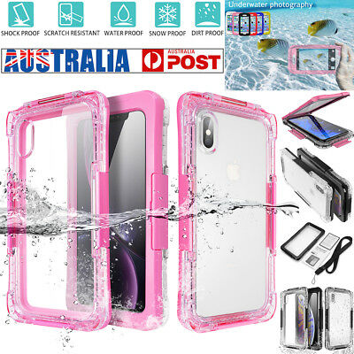 Waterproof Dirtproof Shockproof Swimming Diving Case Cover fr iPhone XS Max XR X