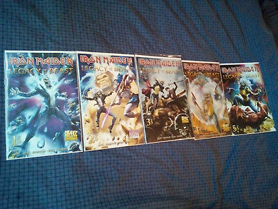 IRON MAIDEN Legacy of the Beast Comic # 1-5 (komplette Serie,CoverVariante A)