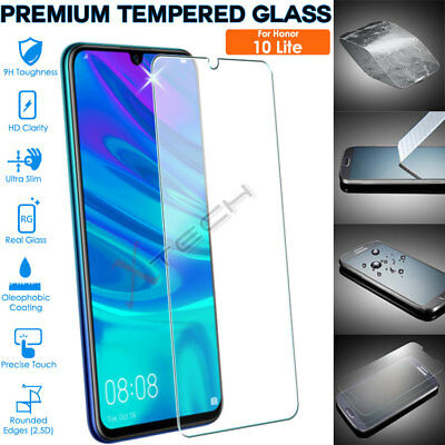 Genuine Premium TEMPERED GLASS Screen Protector Cover For Honor 10 Lite