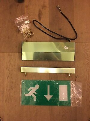 Ct/m3 Led Brass Double Sided Brass Hanging Fire Escape Sign