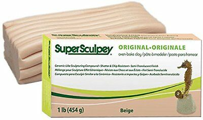 Super Sculpey Original Beige 1lb/454g - Freshest Clay BEST VALUE in Europe