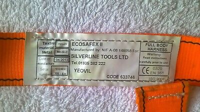 Ecosafex 11 Full Body Safety Harness scaffolding workiat height Silverline Tools