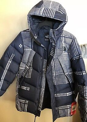 6197b760d NEW! NORTH FACE Mens Sm Eldo Down Insulated Puffer Jacket Navy/White *UNISEX