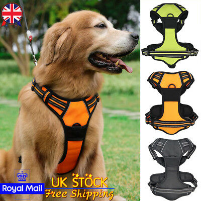 UK No-pull Dog Harness Outdoor Adventure Pet Vest Padded Handle Soft Collar S-XL